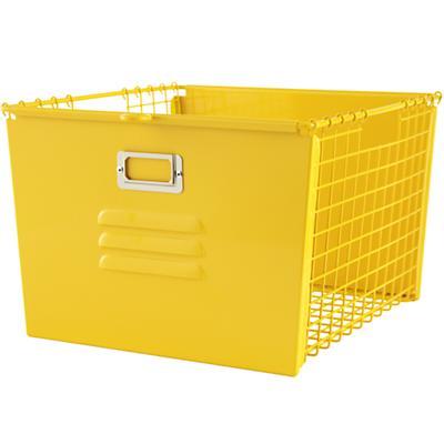Saved by the Cube Bin Locker Basket (Yellow)
