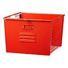 Red-Orange Metal Locker Basket