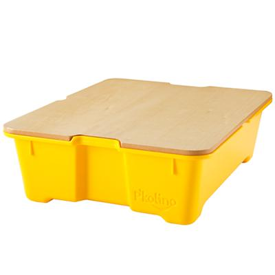 Yellow Write Side Up Storage Bin
