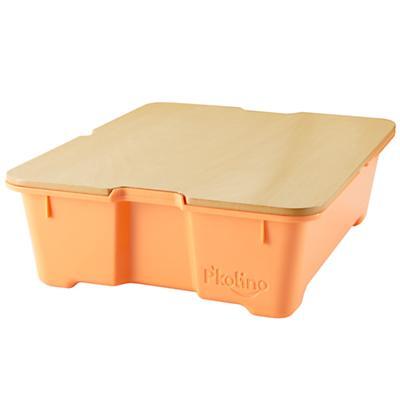 Orange Write Side Up Storage Bin