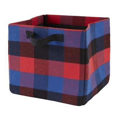 Buffalo Check Cube Bin (Red)