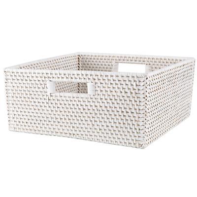 Rattan Large Changer Basket (White)