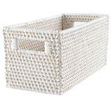 Rattan Small Changer Basket (White)