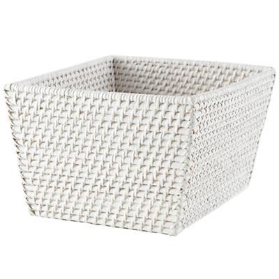 Rattan Shelf Basket (White)
