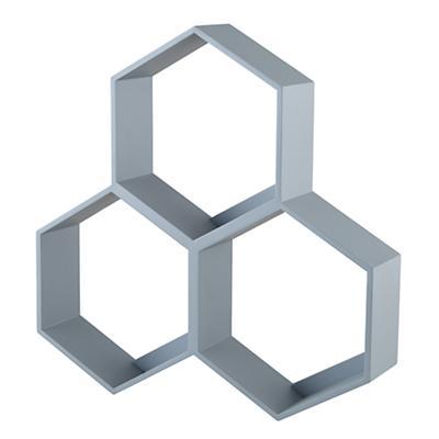 Honeycomb Wall Shelf (Grey)