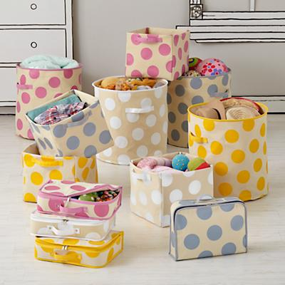 Dotted Storage Bins - Land of Nod