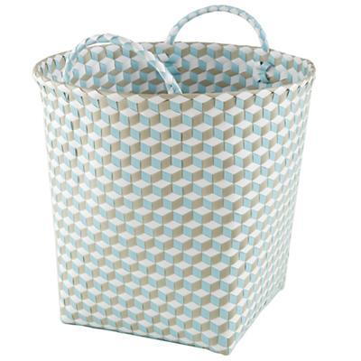 Large Strapped for Storage Bin (Blue)