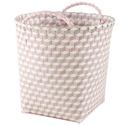 Medium Strapped for Storage Bin (Pink)