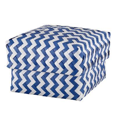 Medium  Zig Zag Basket (Blue)