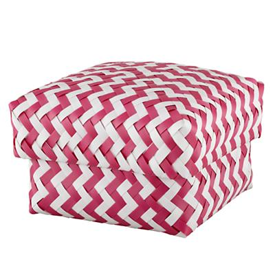 Medium Zig Zag Basket (Pink)
