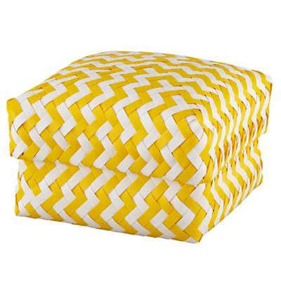 Medium  Zig Zag Basket (Yellow)