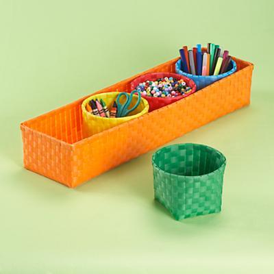 Orange 4 Bin Strapping Storage Set