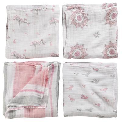 For the Birds Swaddling Blankets