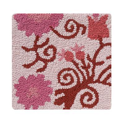Swatch Pink Garden Floral Rug