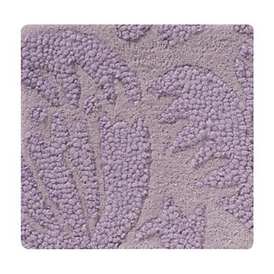 Lavender Raised Floral Rug Swatch