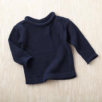 6-9 mos. MJK Knit Sweater (Blue)