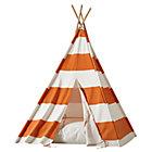 Orange Stripe Teepee and cushion Set