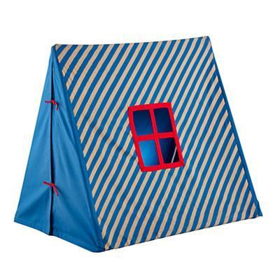 Indoor Explorer Pup Tent (Blue Stripe)