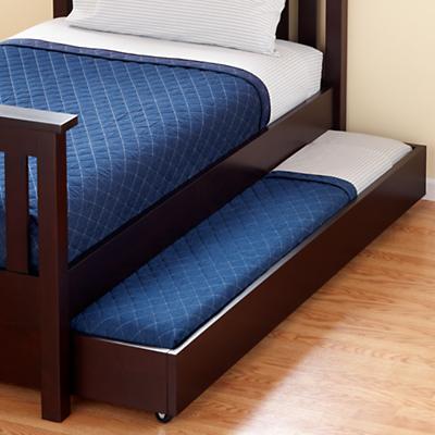 Simple Trundle Bed (Espresso)