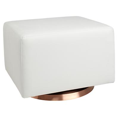 Milo Ottoman (White w/Copper Base)