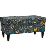 Upholstered Storage Bench w/Legs (Folkland Admiral)