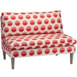 Upholstered Settee (Margot Flamingo)