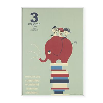 3 Children Riding an Elephant Wall Art