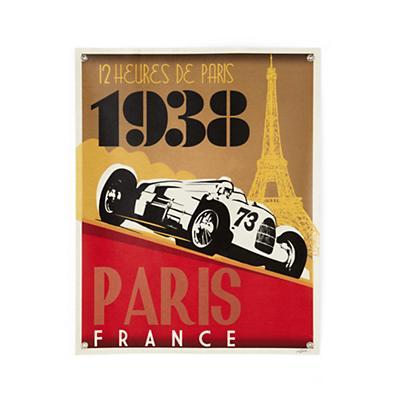 Paris Racecar Banner