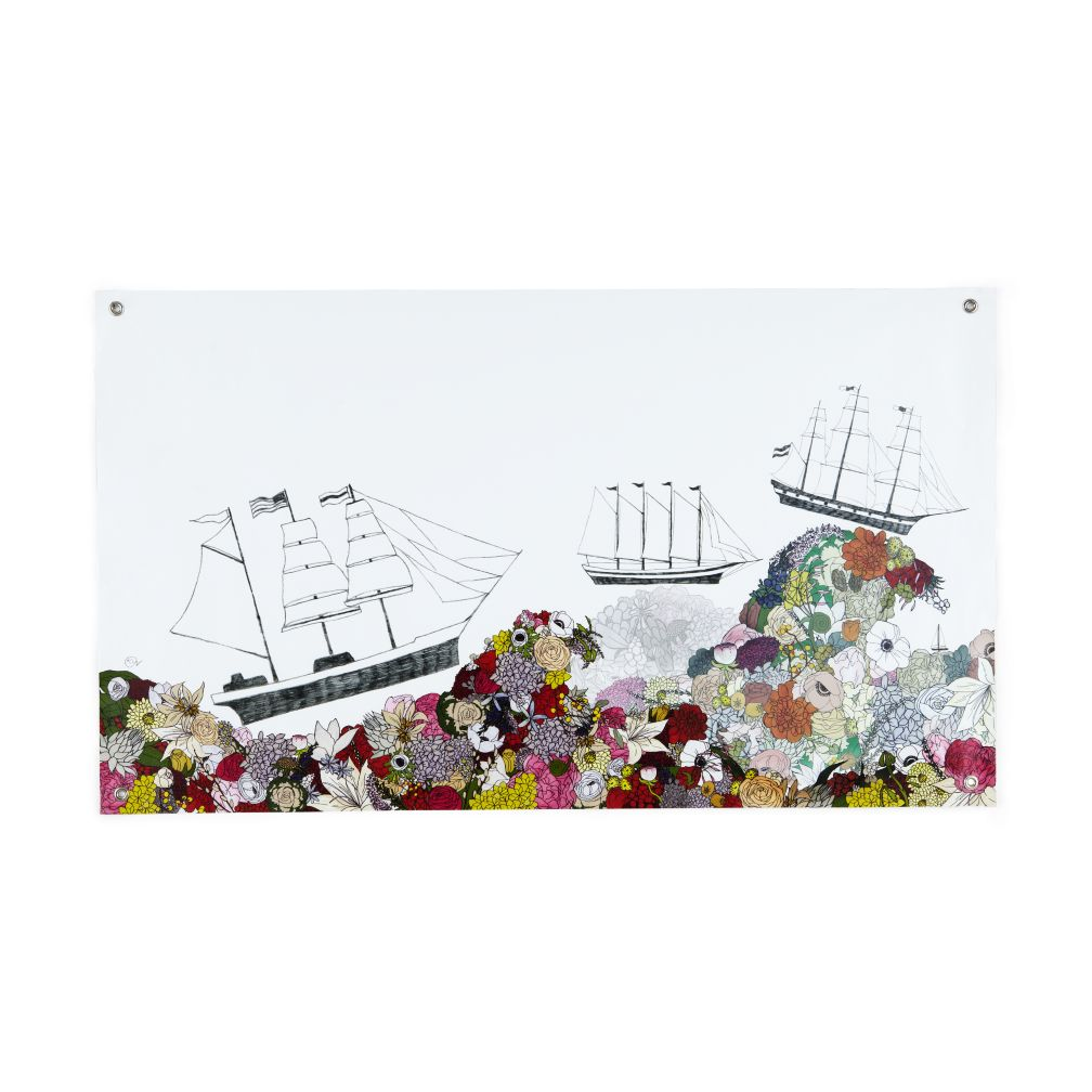 The Land of Nod - Sail the Ocean Blooms Banner