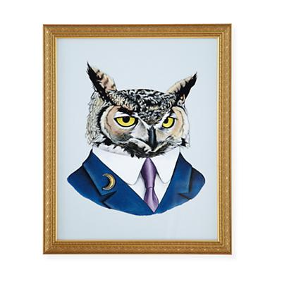 Painted Masterbeasts Wall Art (Owl)