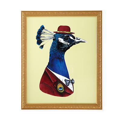 Painted Masterbeasts Wall Art (Peacock)