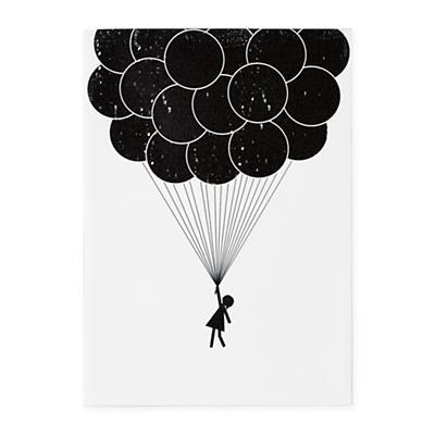 Print Noir Wall Art (Balloon)