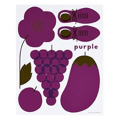 Hues You Can Use Unframed Wall Art (Purple)