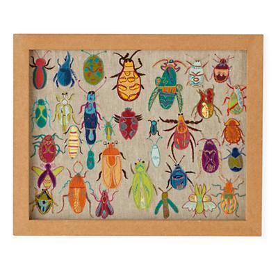 Natural History Framed Wall Art (Bugs)
