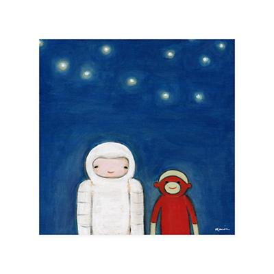 Creative Thursday Canvas Wall Art (Sock Monkey in Space)