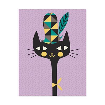 Animal Bebop Canvas Wall Art (Kitty)