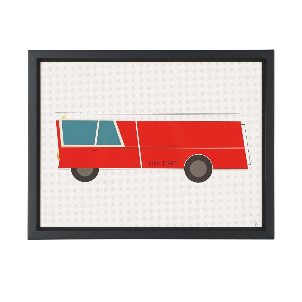Time to Ride Wall Art (Fire Engine)