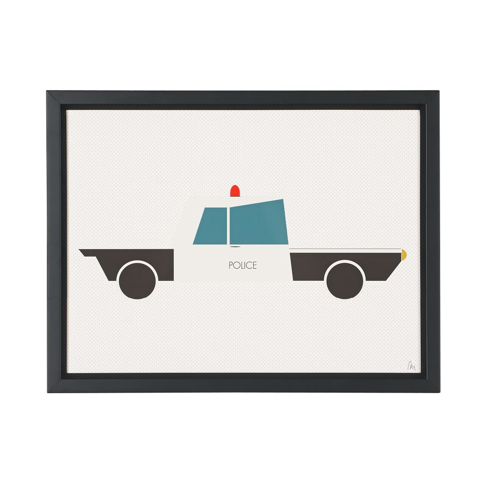 Time to Ride Wall Art (Police Car)