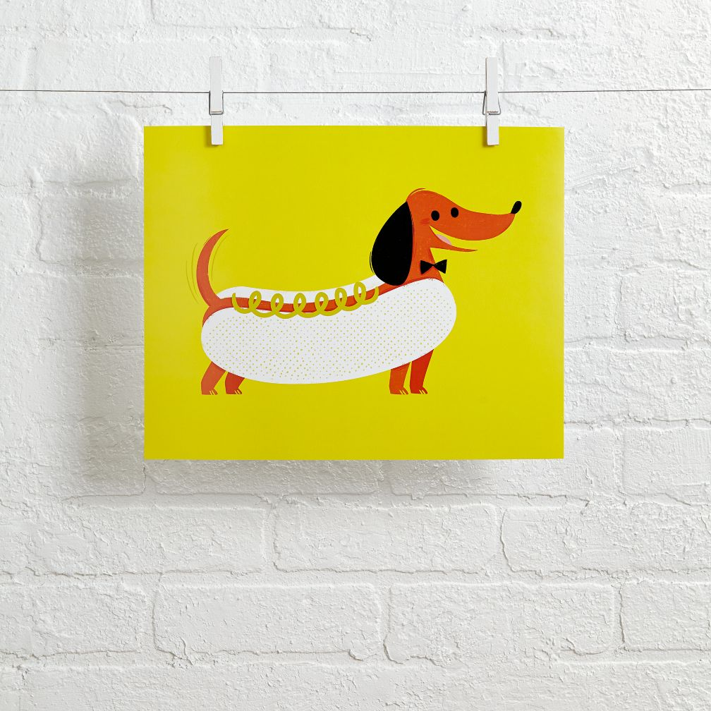 Hooray Today Wall Art (Hot Dog)