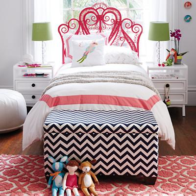 Aria Full Woven Headboard (Hot Pink)