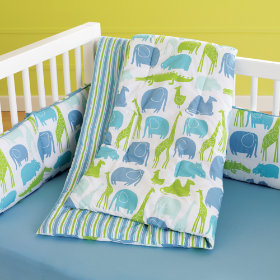 The Morning Zoo Crib Bedding (Blue)
