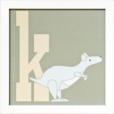 Not Your Usual Alphabet Framed Letter K