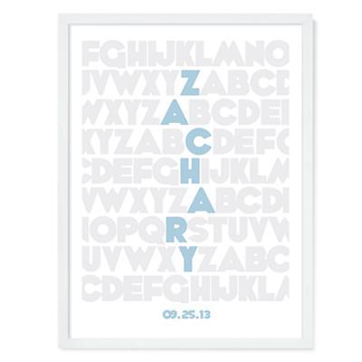 Alphabet Personalized Wall Art (Blue)