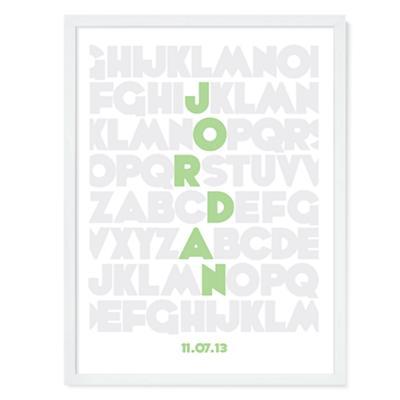 Alphabet Personalized Wall Art (Green)
