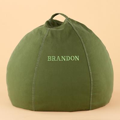 "30"" Green Personalized Beanbag"