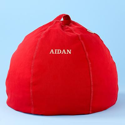 """30"""" Personalized Beanbag Cover (Red)"""
